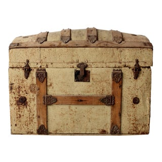 Antique Dome Top Trunk For Sale