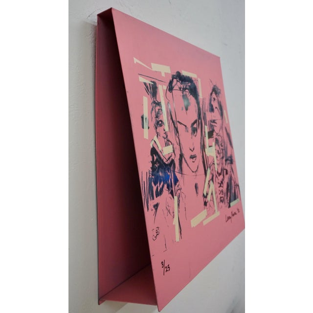 Pink Larry Rivers Steel Painted Pieces in Original Plywood Box- Set of 4 For Sale - Image 8 of 10