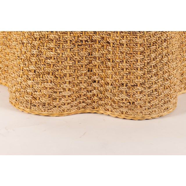 1980s Vintage Trompe l'Oeil Rope Table For Sale - Image 5 of 7