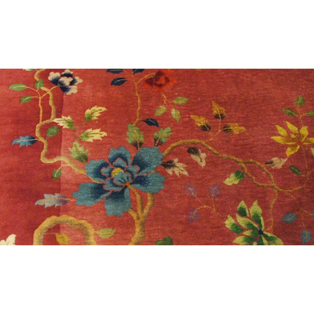 """Antique Art Deco Chinese Oriental Rug-8'8""""' X 11'3"""" For Sale - Image 9 of 10"""
