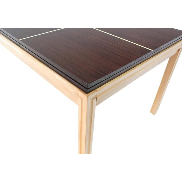 Tommy Parzinger Dining Table with Two Leaves For Sale - Image 6 of 9
