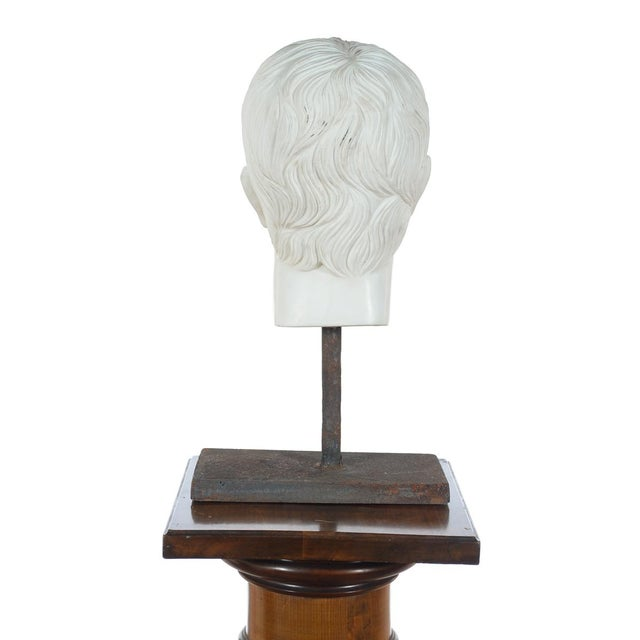 Marble Roman Emperor Marble Bust For Sale - Image 7 of 10