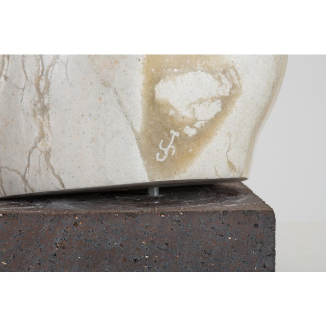 Abstract Torso Sculpture on Stone Mount For Sale - Image 11 of 12