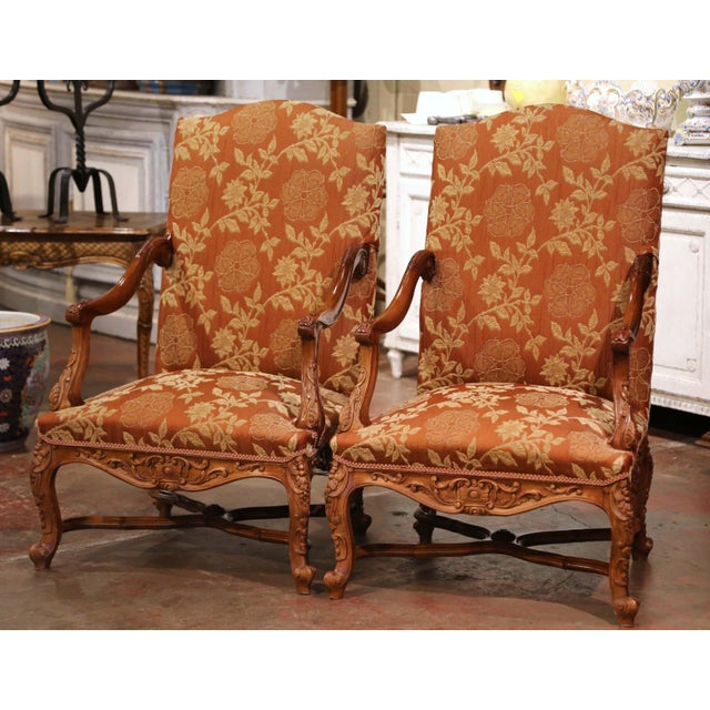 19th Century Louis XV Carved Walnut Armchairs From Provence - a Pair For Sale - Image 13 of 13