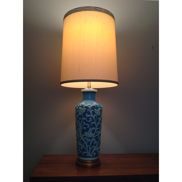 Huge vintage marbro lamp. The lamp shade: 16 inch width, 16 inch depth, 21 inch height.