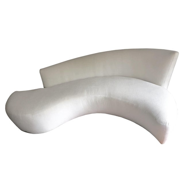 This is a 1990s Vladimir Kagan serpentine sofa, inspired by Frank Gehry's Bilbao Museum of Spain. Kagan combined angular...