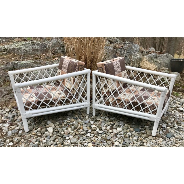 Vintage Willow & Reed Rattan Arm Chairs - A Pair For Sale - Image 11 of 11