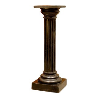 Antique Swedish Neoclassical Late Empire Fluted Pedestal For Sale