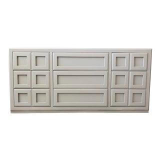 Contemporary Dixie Gray Lowboy Dresser For Sale