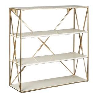 CB2 Large Brass Wall Shelves