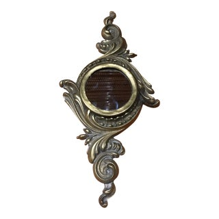 Vintage Bradley & Hubbard Brass Decorative Wall Mirror For Sale