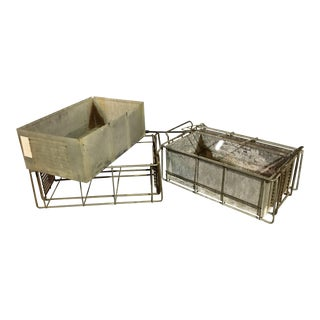 Vintage Industrial Storage Crates - Set of 2 For Sale