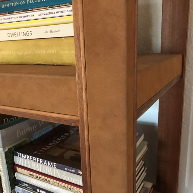 2000s Custom Made Tall Parsons Style Rectangular Bookcase For Sale - Image 5 of 10