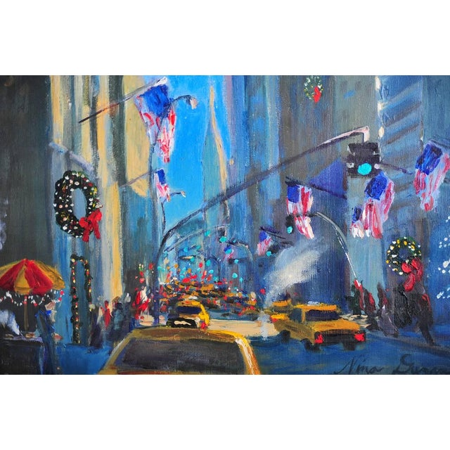 """Downtown Manhattan 4th July,"" Oil Painting - Image 3 of 10"