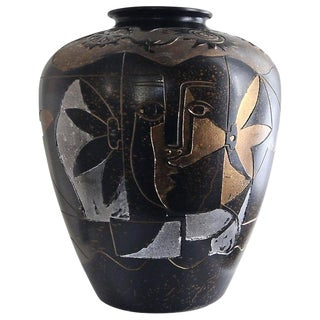 1990s Contemporary Ceramic Decorative Vase For Sale