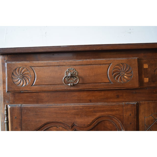 French Late 18th Century Antique French Walnut Buffet For Sale - Image 3 of 12