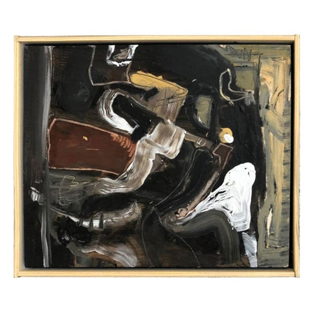 Wood Contemporary Oil on Wood Abstract XIII by William McLure For Sale - Image 7 of 7