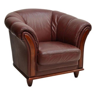 Danish Modern Rosewood Leather Chair, c.1970 For Sale