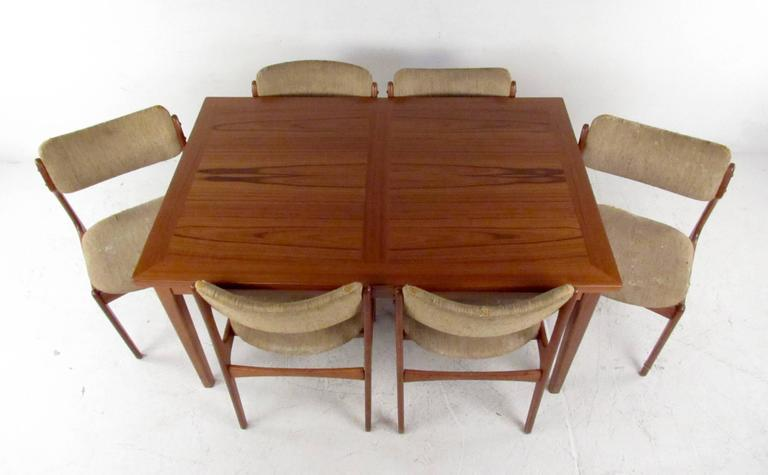 Lovely Mid Century Skovby Teak Dining Table and Six OD Mobler