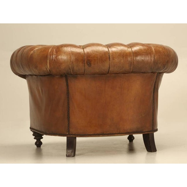Original Leather Antique Chesterfield Chair - Image 8 of 11 - Original Leather Antique Chesterfield Chair Chairish