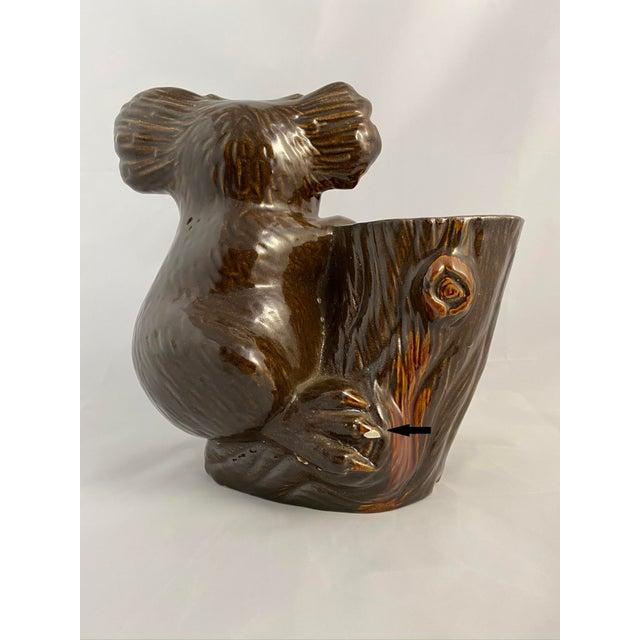 Modern Haeger Koala Planter Brown For Sale - Image 3 of 13