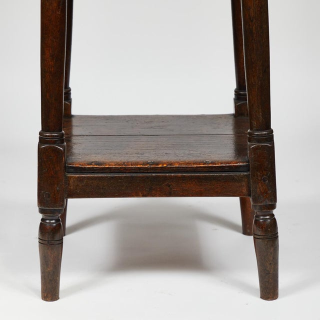 Late 19th Century English Tall Upholstered Stool With Bottom Shelf For Sale In Los Angeles - Image 6 of 10