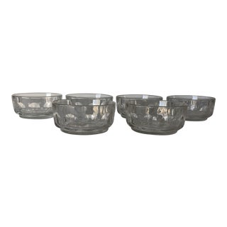 French Arcoroc Octime Black Glass Octogon Bowls - Set of
