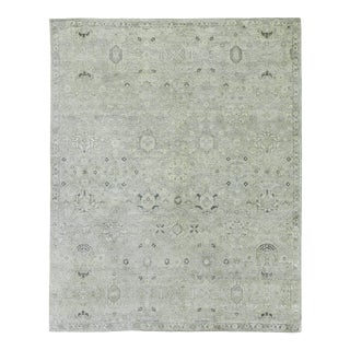 Exquisite Rugs, Evie, Hand Knotted, Wool, Gray & Beige - 8'x10' For Sale