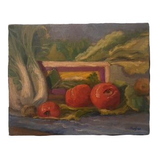 1970s French Still Life Oil Painting For Sale