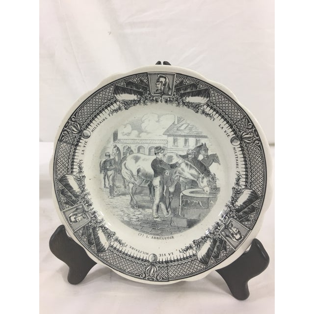 Sarraguemines Sarreguemines French Military Life Plates - Set of 7 For Sale - Image 4 of 9