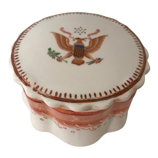 Chinese Porcelain American Eagle Box For Sale