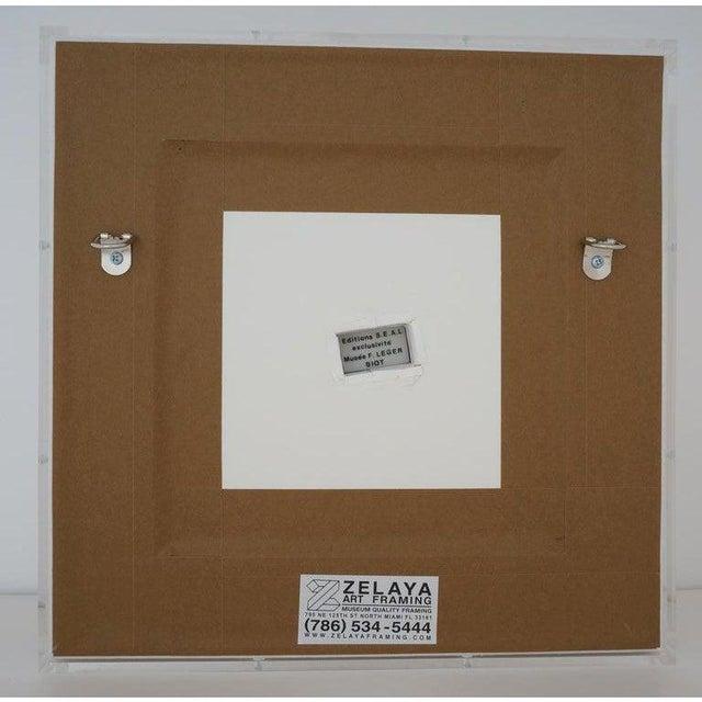 Vintage Framed Fernand Leger Porcelain Plates - a Set of 4 Different in Lucite Shadowbox Frames For Sale - Image 11 of 13