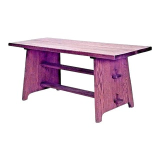 American Mission Oak Rectangular Dining Table For Sale