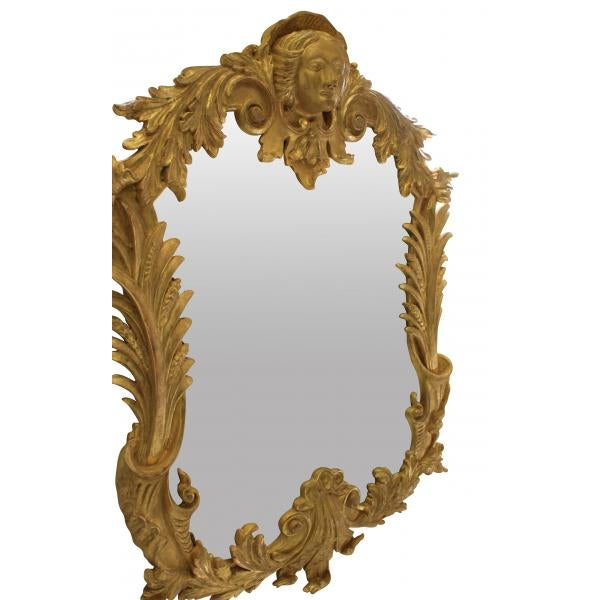 Georgian A Pair of Large George III Style Gilt Wood Mirrors For Sale - Image 3 of 5
