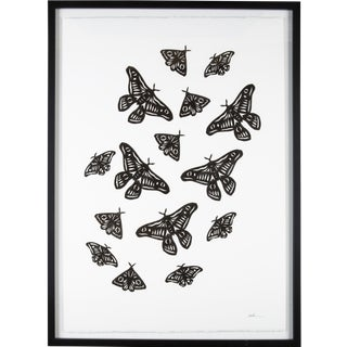 Stacey Elaine Black Moths Collage For Sale