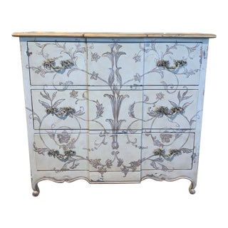 Guild Master Bleu Gris Three Drawer Chest For Sale