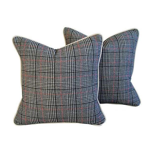 Custom Ralph Lauren Houndstooth Pillows - A Pair - Image 1 of 7