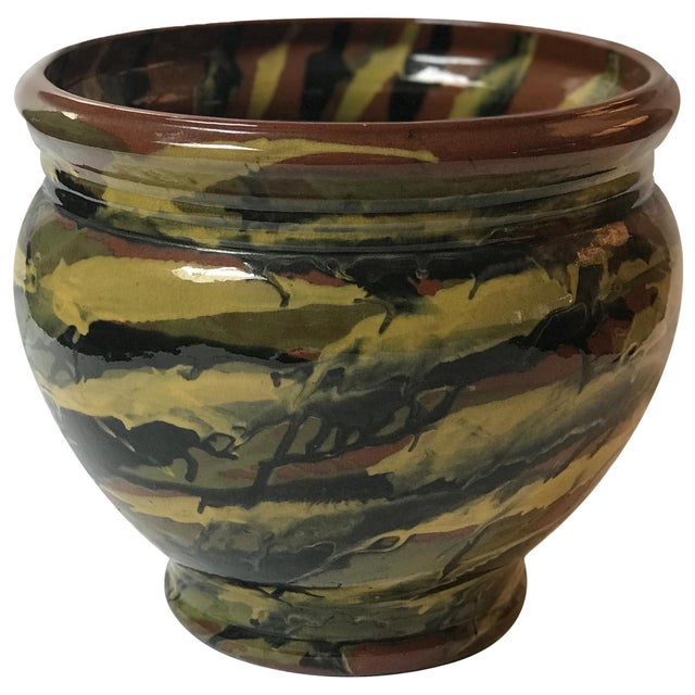 1930s Early 20th Century Peters and Reed Glazed Pottery Vase For Sale - Image 5 of 5