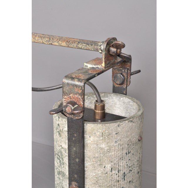 Gray Concrete Outdoor Wall Lamps, Switzerland 1950s For Sale - Image 8 of 8