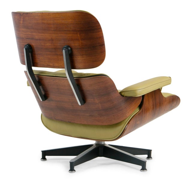 Aluminum Early Production Model 670/671 Lounge Chair & Ottoman by Charles & Ray Eames For Sale - Image 7 of 13