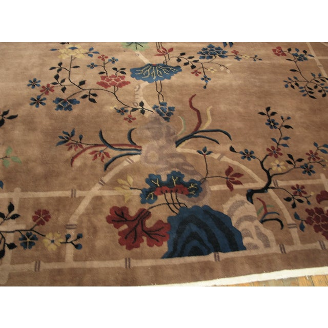 Textile Antique Art Deco Chinese Rug For Sale - Image 7 of 8