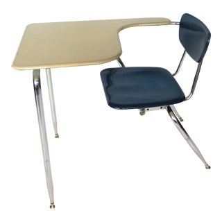 1960s Mid-Century Modern Elementary School Desk and Chair Set For Sale