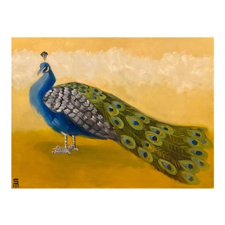 Stephen McDonough Contemporary Peacock Original Oil Painting For Sale