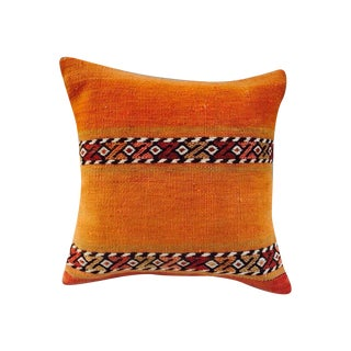 Orange Turkish Kilim Pillow