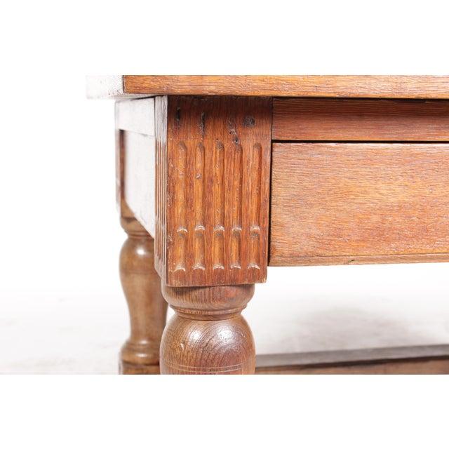 Oak Mid-Century Tudor-Style Coffee Table For Sale - Image 7 of 11