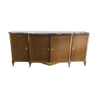 French Louis XVI Style Marble Top Sideboard For Sale