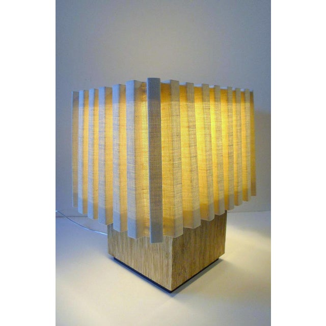 Not Yet Made - Made To Order Paul Marra Modern Distressed Silvered Oak Lamp For Sale - Image 5 of 9