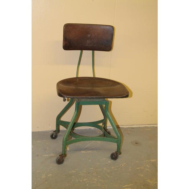 Metal 1950s Vintage Toledo Metal Furniture Co Industrial Chair For Sale - Image 7 of 7