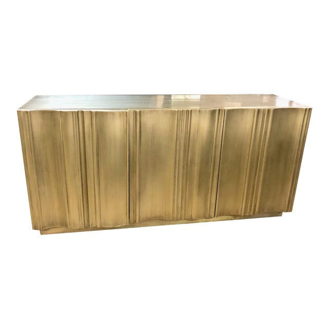 Contemporary Silver Buffet Sideboard For Sale