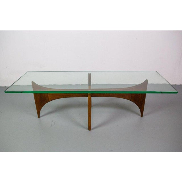 Huge coffee table designed by Adrian Pearsall for Craft Associates in walnut.